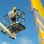 aircraft rudder cleaning
